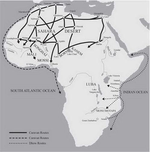 Trade Map Of Africa AP World History Practice Test 4_crackap.com